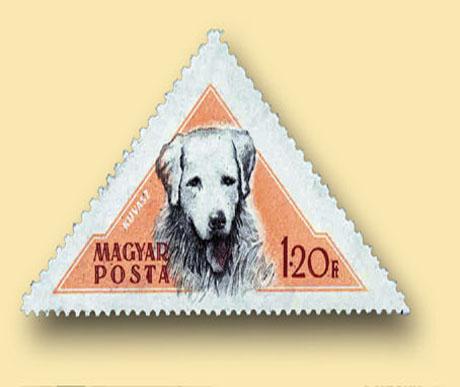 Az első magyar kutyás bélyegsorozat